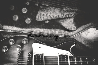 Electric guitar in case