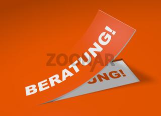 3D Etikett Orange - Beratung