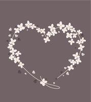 flower shaped heart
