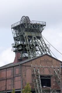 Fördergerüst Schacht 1/2 Zeche Radpod in Hamm, Deutschland