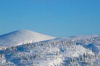 Winter mountains in Kandalaksha