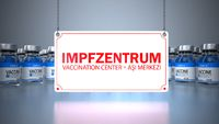 Vaccine Bottles Impfzentrum