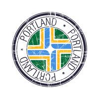 City of Portland, Oregon vector stamp