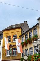 Beautiful houses in Ahrweiler in the Ahr valley