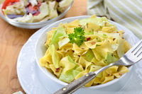 Austrian noodles with white cabbage