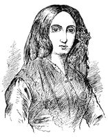 Portrait of Amantine Lucile Aurore Dupin (George Sand) - a French novelist, memoirist, and socialist