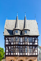 Historic town hall in Alsfeld in the Vogelsberg district in central Hesse, Germany