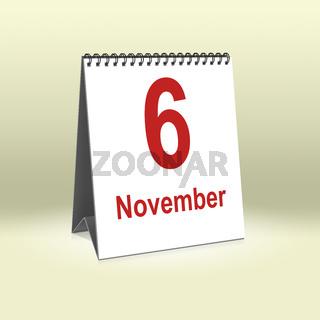 November 6th   6.November