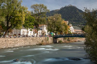 At Passer river in Meran, South Tyrol
