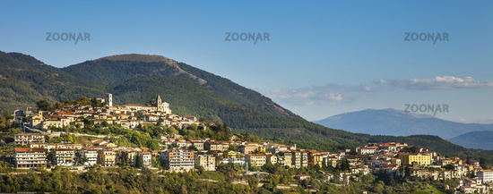 View of Marsico Nuovo in the province of Potenza in Basilicata Italy