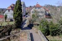 Bad Teinach-Zavelstein, view from the castle ruins, Northern Black Forest, Southern Germany, March
