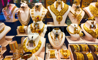 Jewelery shop in the Golden Souk in Dubai