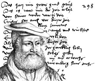 Hans Sachs, 1494 - 1576, a Nuremberg poet