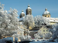 Basilica of St Martin in Weingarten (Württ.) with snow