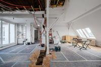 Loft room during renovation,  apartment refurbishment