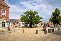 Market place on Werder Island, part of the town of Werder on the banks of the Havel near Potsdam