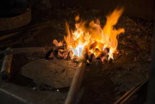 Feuer in einer Esse
