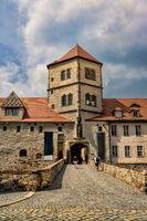 Halle Saale, Germany - June 21, 2019 - entrance to the Moritzburg