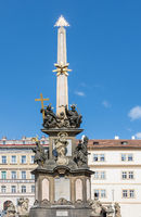 Historic column in the city of Prague