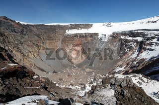 Crater of active Tolbachik Volcano in Kamchatka Peninsula