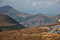 The Hakone Ropeway, the part of Hakone Round Course. Hakone, Kanagawa. Honshu. Japan