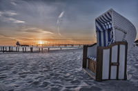 Zingst Pier at the Baltic Sea