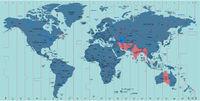 Vector Timezone world map