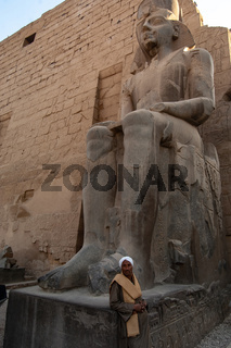 Egyptian Stone statue, Luxor Egypt