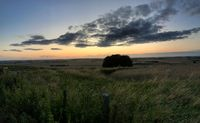 landscape at sunset at avesbury hill england