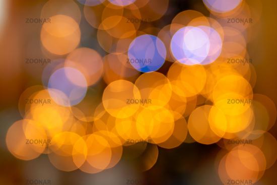 Colourful defocused xmas lights bokeh