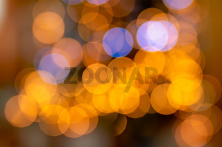 Colourful defocused xmas lights bokeh