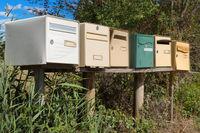 Many retro mail boxes