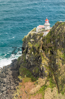 Lighthouse Ponta do Arnel in Sao Miguel island Azores