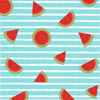 Watermelon Poster With Paint Background
