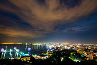 Pattaya City at night scene landmark in Thailand