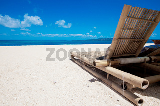 Beach chair on beach