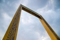 Dubai Frame - best new attraction. Golden 150m high frame will be a new landmark