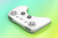 Gamepad on colorful background