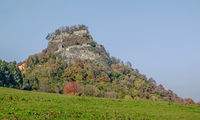 Castle ruins Hohenkrähen in the Hegau