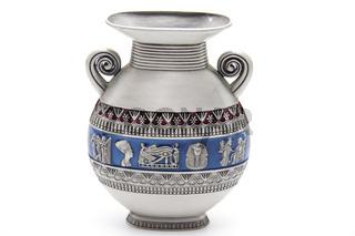 Blumen vase mit ägyptischen Figuren