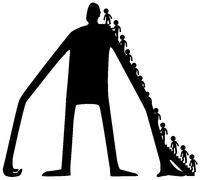 Giant Figure Advisors Cartoon Silhouette