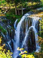 Scenic cascades on the river Sluncica