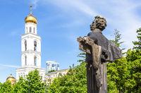 Bronze monument to famous Russian poet Alexander Pushkin