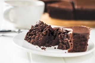 Chocolate brownies cake.