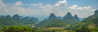 Yangshuo landscape panorama in China