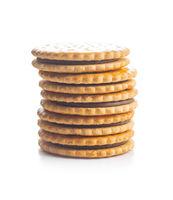 Sweet sandwich cookies.