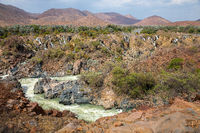 Epupa Falls on the Kuene River, Namibia.