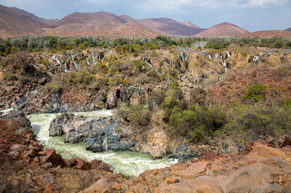 Epupa Falls on the Kuene River, Namibia.