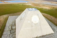 The building of the radio radar in the form of a pyramid on military base. Missile Site Radar Pyramid in Nekoma North Dakota.
