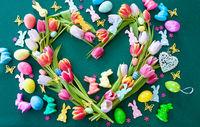 Tulpen unf Osterdekoration